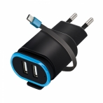 Forever wall charger TC-02 2xUSB 2.4A with cable type-C