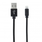 Forever USB cable for iPhone 8-pin leather black