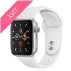 Apple Watch Series 5 GPS 40mm Silver Aluminum Case with White Sport Band MWV62