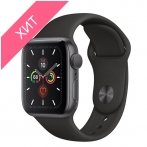 Apple Watch Series 5 GPS 40mm Space Gray Aluminum Case with Black Sport Band MWV82