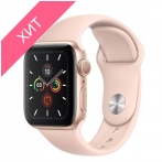 Apple Watch Series 5 GPS 40mm Gold Aluminum Case with Pink Sand Sport MWV72
