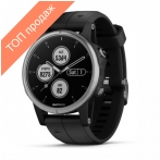 Часы для мультиспорта Garmin Fenix 5S Plus Silver with Black Band (010-01987-21)